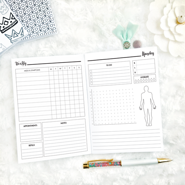 Spoonie Series | Daily Health Log | Printed