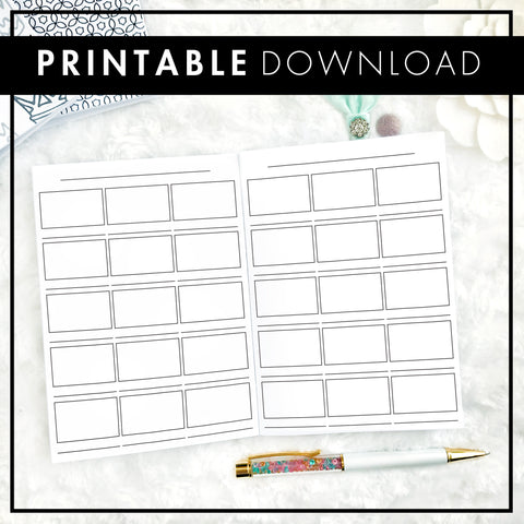 Basic Swatch Book | Printable