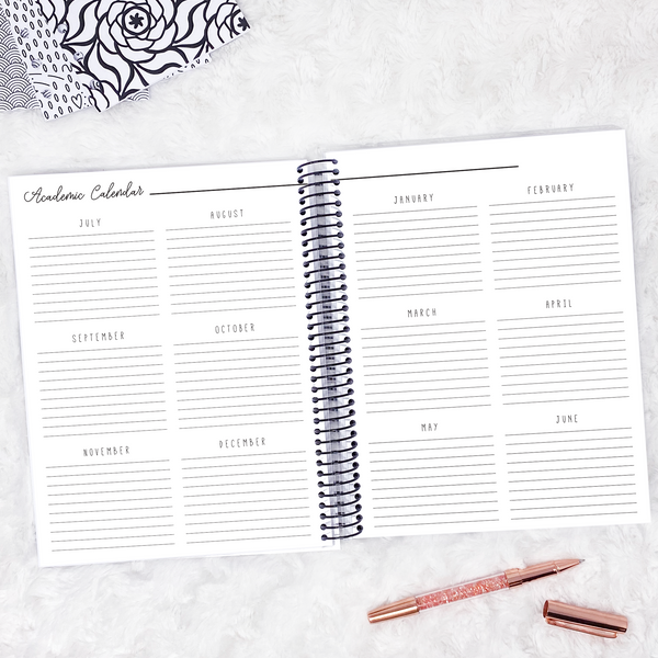 Teacher Planner | Horizontal | Dated 2020-2021 | Printed