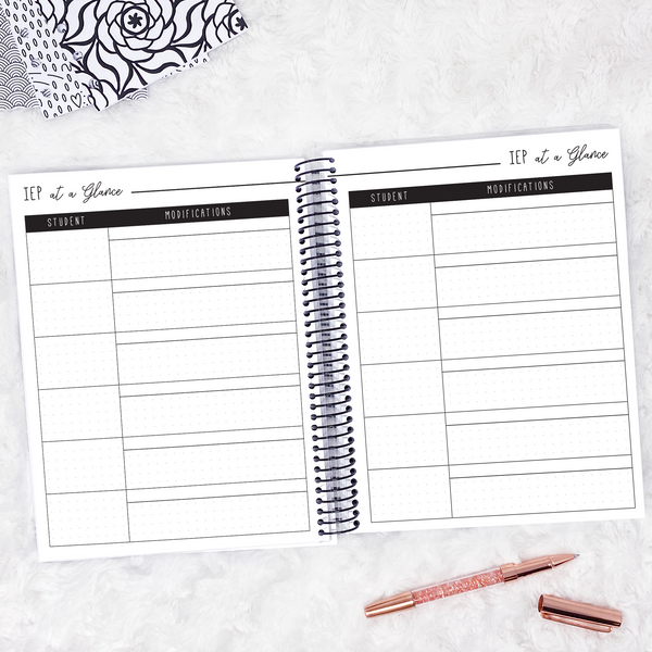 Teacher Planner | Vertical | Dated 2020-2021 | Printable