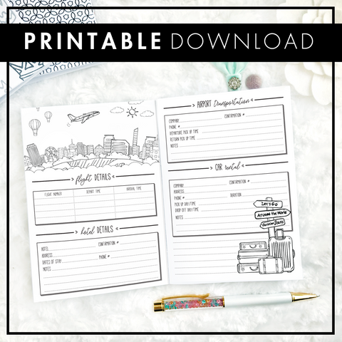 Travel Journal and Planner 2.0 | Printable