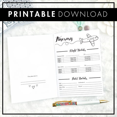 Travel Journal and Planner | Printable