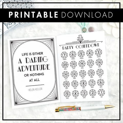 Roaring Twenties Conference Planner | WCP Official Merchandise | Printable