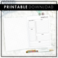 Undated Weekly Overview | Printable