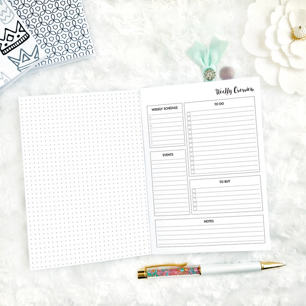 Dated Basic All Inclusive Monthly Planning Insert | Layout B | 2020 | Printed