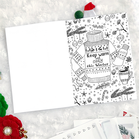 Christmas Coloring Book | Printed