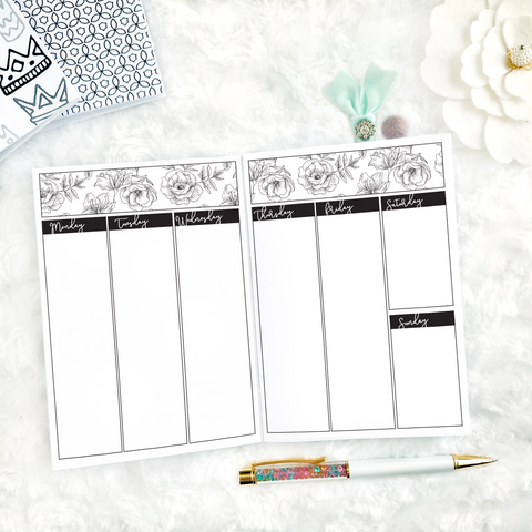 Weekly Medley Planner | Undated Weekly | Printed