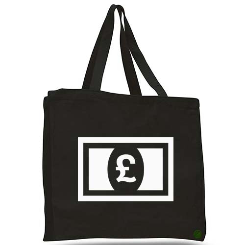 british pound tote bag
