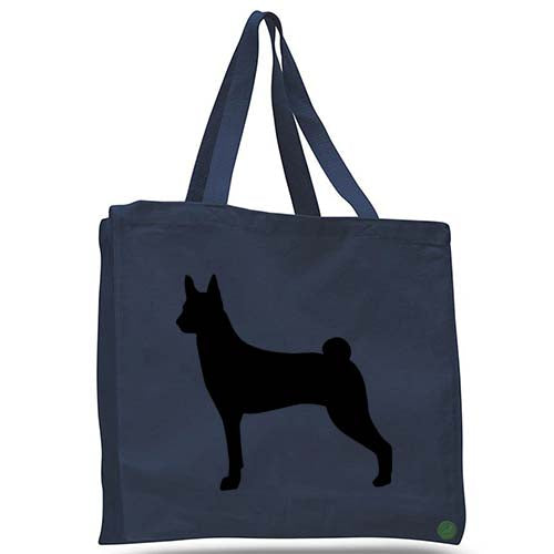 basenji dog tote bag