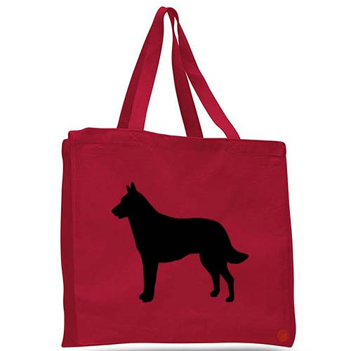 belgian malinois dog tote bag