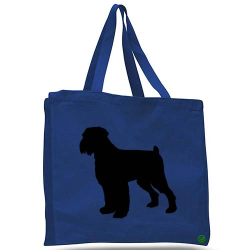 black russian terrier dog tote bag