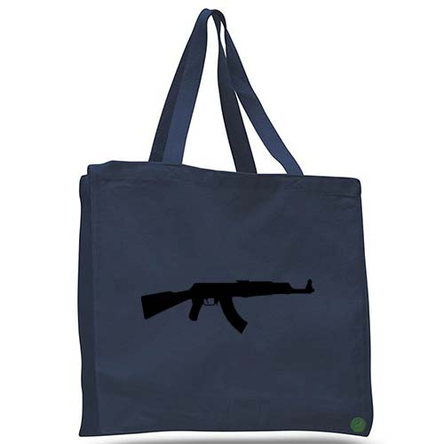 ak47 rifle tote bag
