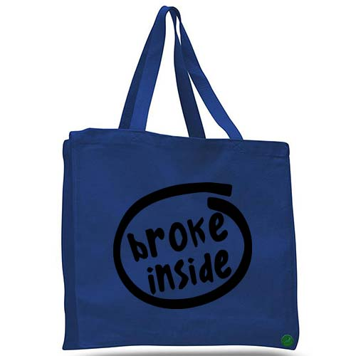 broke inside tote bag