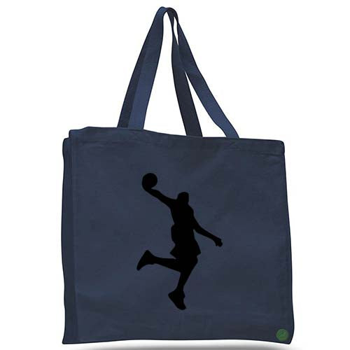 basketball player dunk tote bag