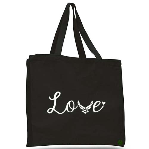 air force love tote bag