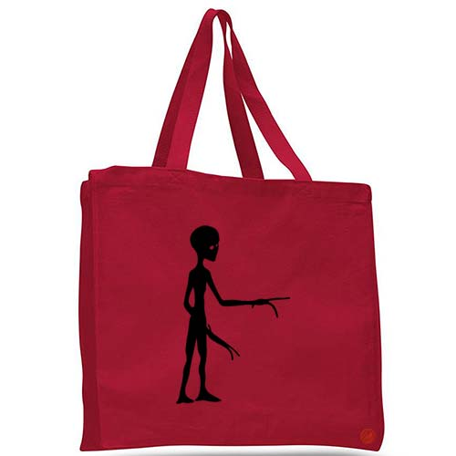 alien visitor tote bag