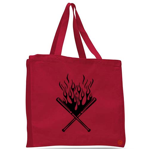 baseball bat tote bag