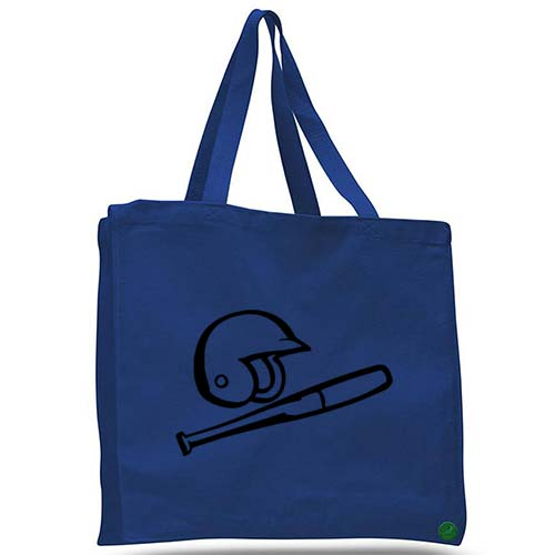 baseball helmet and bat tote bag