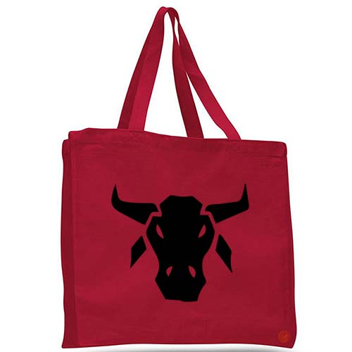 buffalo head tote bag