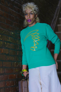 NOK Warrior Crew Neck Sweatshirt Kelly Green/Gold.