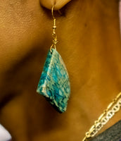 Blue Jasper Slice Earring by NOA