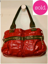 See by Chloe Crimson Patent Leather Handbag