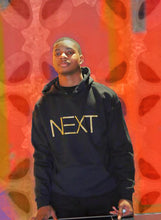 NOK NEXT Hoodie in Noir and Gold.