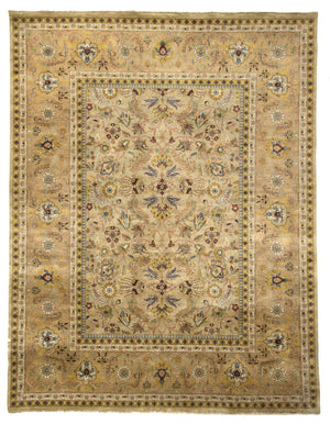 Indian Sarouk Farahan Design, Hand-Made Wool Rug - Tabak Rugs