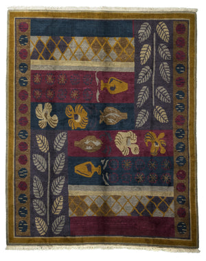 Tibetan Hand-Made Wool Rug - Tabak Rugs
