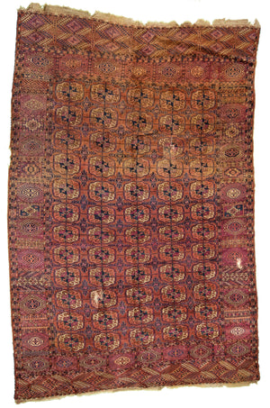 Turkmen Bukhara Hand-Made Wool Rug - Tabak Rugs