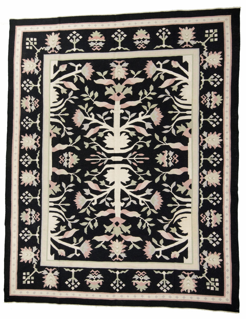 Chinese Flat Weave Hand-Made Rug - Tabak Rugs