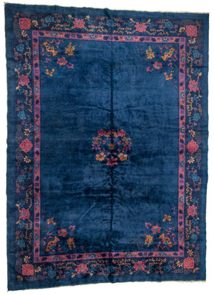 Chinese Peking Design Hand-Made Wool Rug - Tabak Rugs