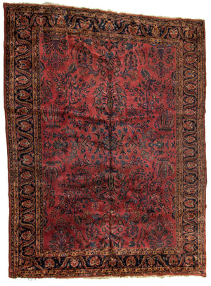 Persian Sarouk Hand-Made Wool Rug - Tabak Rugs