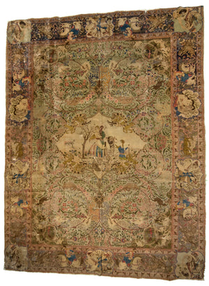Egyptian Antique Hand-Made Wool Rug - Tabak Rugs
