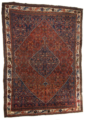 Persian Antique Bijar Hand-Made Wool Rug - Tabak Rugs