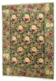 Indian Flower Garden Hand-Made Wool Rug - Tabak Rugs