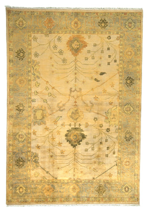 Turkish Oushak Hand-Made Wool Rug - Tabak Rugs