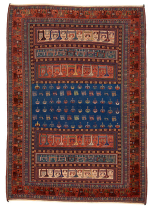 Turkish Verne Hand-Made Wool Rug - Tabak Rugs