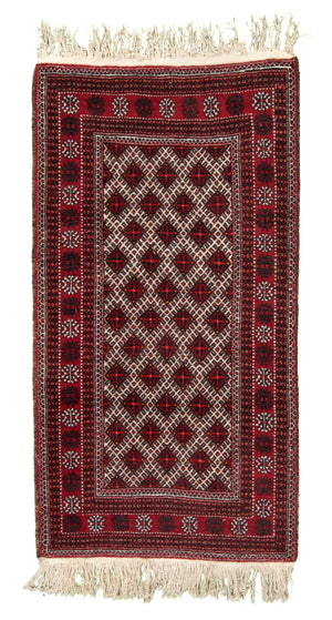 Persian Bukhara Hand-Made Wool Rug - Tabak Rugs
