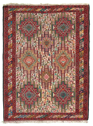 Pakistani Sumak Hand-Made Wool Rug - Tabak Rugs
