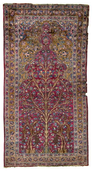 Persian Antique Kashan Hand-Made Wool Rug - Tabak Rugs