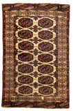 Turkmeni Antique Bukhara Hand-Made Wool Rug - Tabak Rugs