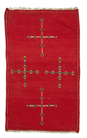 Kilim Cross Hand-Made Rug - Tabak Rugs