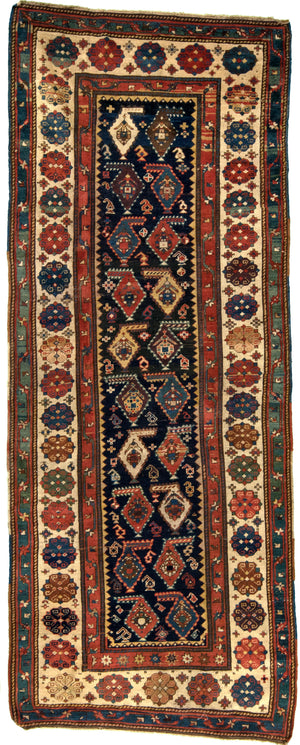Caucasian Antique Hand-Made Wool Rug - Tabak Rugs