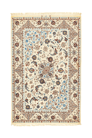 Persian Isfahan Hand-Made Wool and Silk Rug - Tabak Rugs