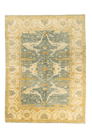 Indian Oushak Design Hand-Made Wool Rug - Tabak Rugs
