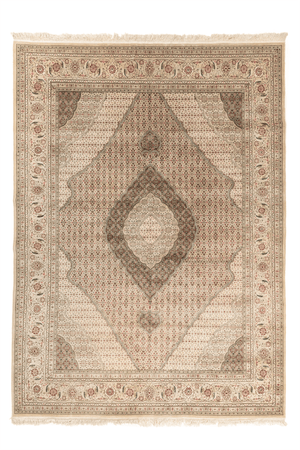 Indo-Tabriz Hand-Made Wool and Silk Rug - Tabak Rugs