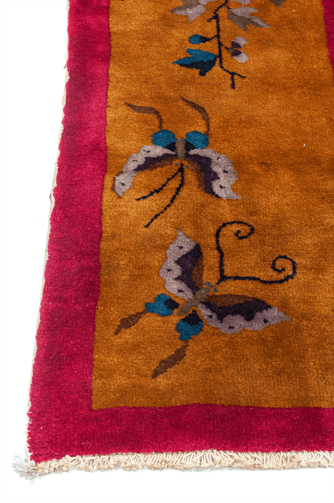 Chinese Art Deco Hand-Made Wool Rug - Tabak Rugs