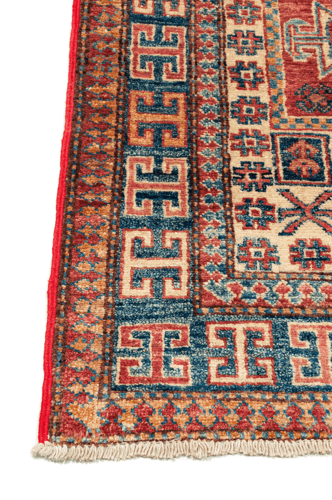 Pakistani Kazak Hand-Made Wool Rug - Tabak Rugs
