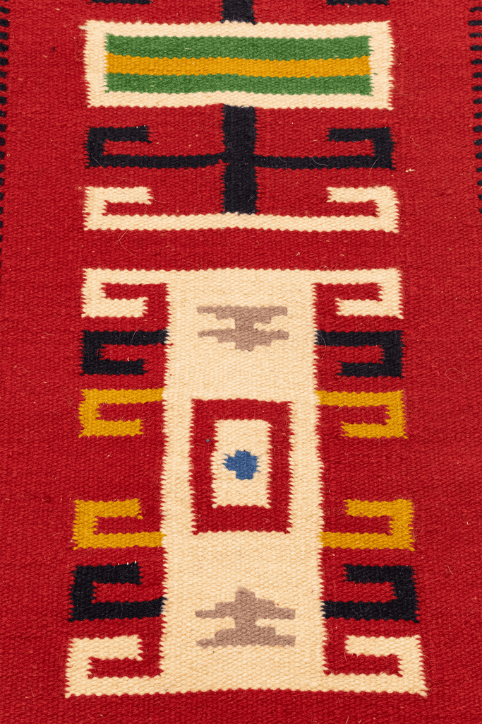 Mexican Kilim Hand-Made Wool Rug - Tabak Rugs